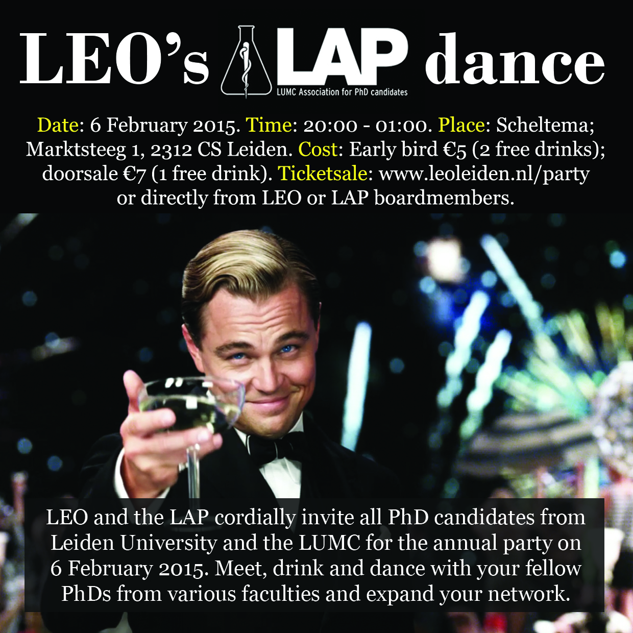 Flyer of LEOsLAPdance 2015